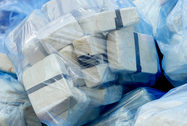 Bags of heroin seized during a special operation.