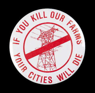 image of anti-powerline political button