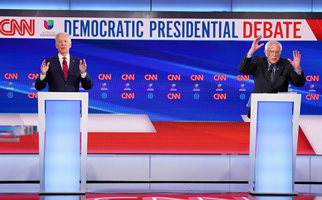 Former Vice President Joe Biden and Sen. Bernie Sanders