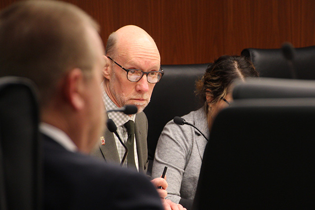 Chair of the House Education Finance Division, Jim Davnie, shown during Wednesday's hearing.