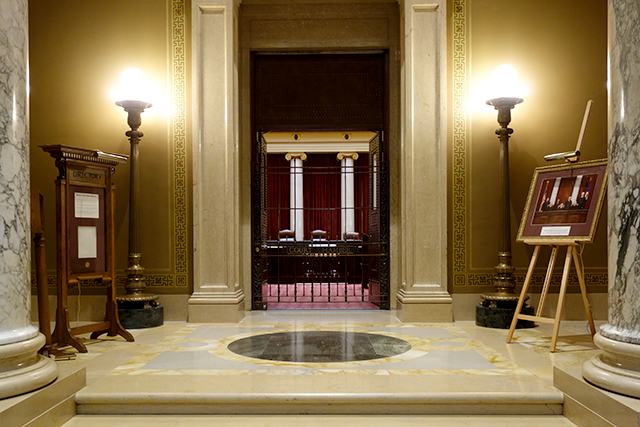 The chambers of the Minnesota Supreme Court were closed.
