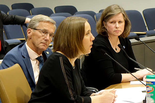 State Sen. Scott Jensen, Lija Greenseid, Kristen Hoatson