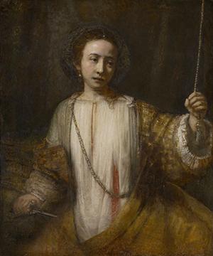 Lucretia, 1666, Rembrandt Harmenszoon van Rijn, oil on canvas