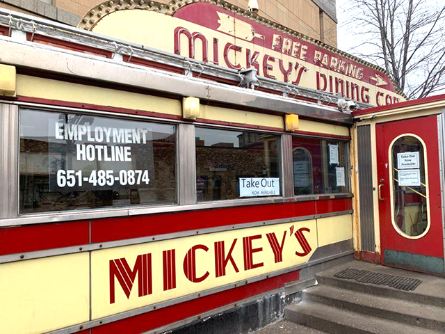 Mickey's Diner, downtown St. Paul