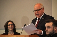 Education Commissioner Mary Cathryn Ricker, Gov. Tim Walz