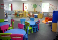 One of the rooms at the Stay 'n Play Child Care Center in Willmar.