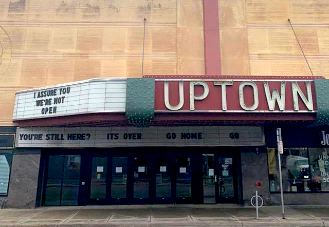 """""""I assure you we're not open"""": Uptown Theater, Uptown, Minneapolis"""