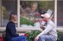 Lori Spencer and her husband Michael Spencer visit her mom, Judie Shape