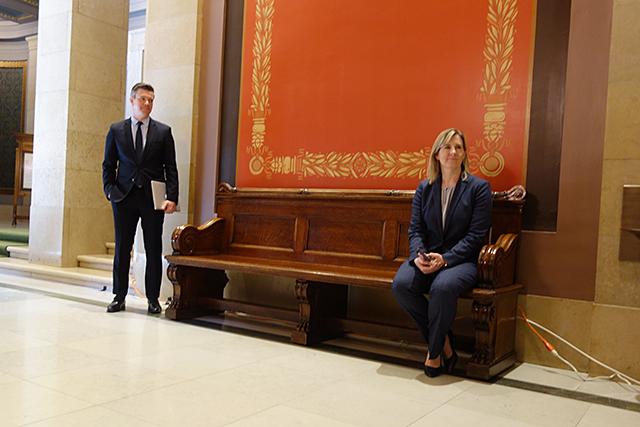 Majority Leader Ryan Winkler and Speaker Melissa Hortman