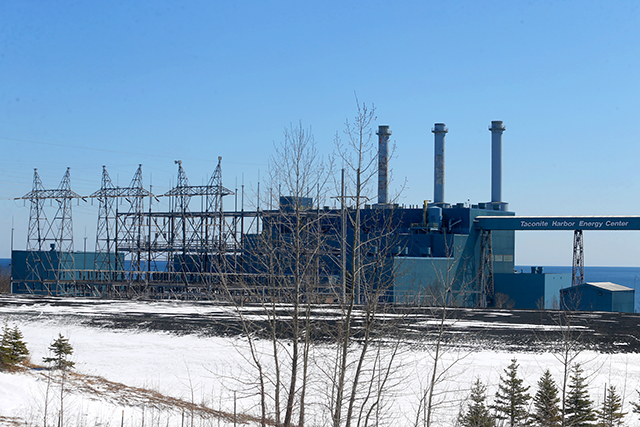 Minnesota Power's Taconite Harbor Energy Center, a coal-fired power plant along Lake Superior's North Shore. One unit of the plant was shut down in 2015, and the two remaining units were idled in 2016.