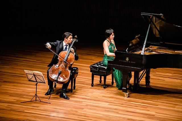 Gautier Capuçon, cello, and Yuja Wang, piano, in recital for the Schubert Club International Artist Series.