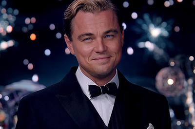 "Leonardo DiCaprio as Jay Gatsby in 2013's ""The Great Gatsby."""