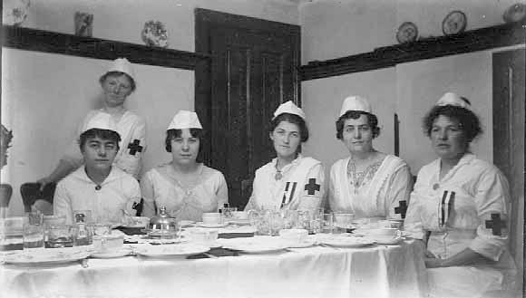 Red Cross nurses in 1918.