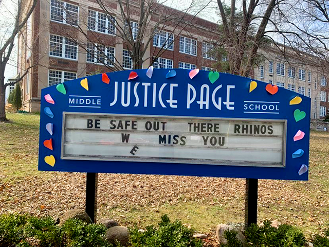 Justice Page Middle School, Tangletown, Minneapolis.
