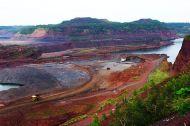 photo of open pit iron mine