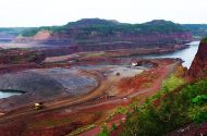 photo of open pit iron mine