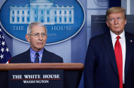 Dr. Anthony Fauci, President Donald Trump