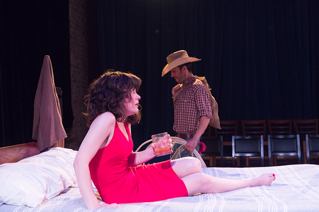 "Sara Marsh and James Rodriguez in the 2017 production of Sam Shepard's ""Fool For Love."""