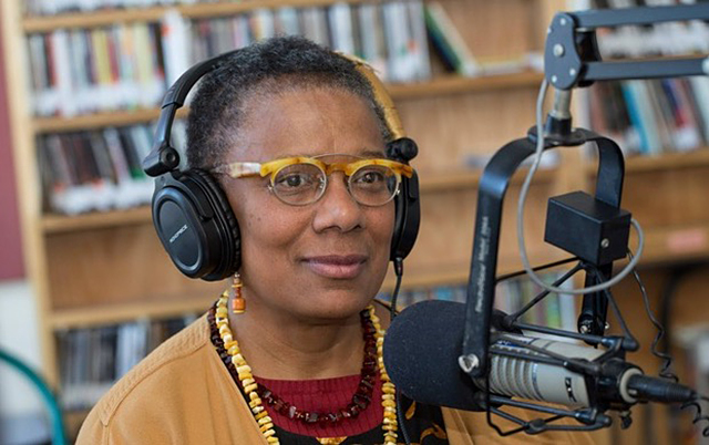 "Janis Lane-Ewart was KFAI's executive director for 12 years and host of her own radio show, ""The Collective Eye."""