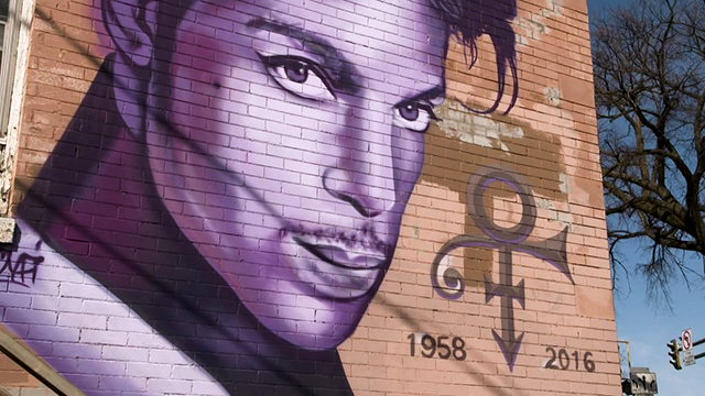 The Uptown Prince mural at 1309 W. 26th St., Minneapolis.