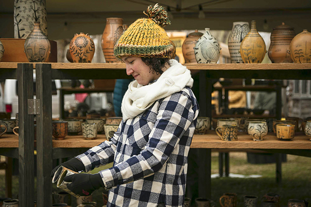 A scene from the 2019 St. Croix Valley Pottery Tour.