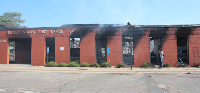 photo of burned post office