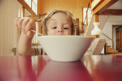 photo of child eating