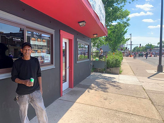 Dwight Alexander, owner of Smoke In The Pit Take Out, which sits a half block up the street from the Cup Foods deli on 38th Street and Chicago Avenue in South Minneapolis.