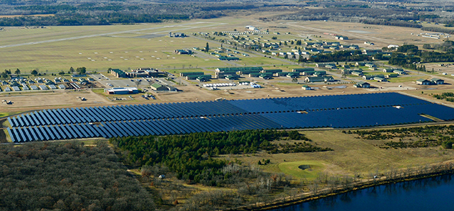 Minnesota Power's solar array at Camp Ripley.