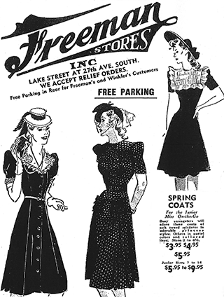 An advertisement for Freeman's Stores.