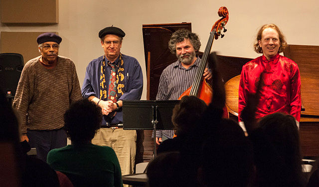 Keys Please!, from left to right: Carei Thomas, Todd Harper, guest Brian Roessler and Paul Cantrell shown at the 2012 Studio Z performance.