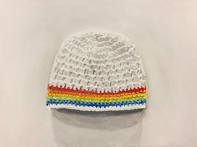 """Joshua Huyser, """"Knit Cap,"""" 2019"""