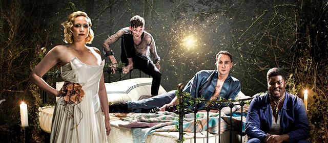 """Gwendoline Christie, left, in """"Midsummer Night's Dream."""""""