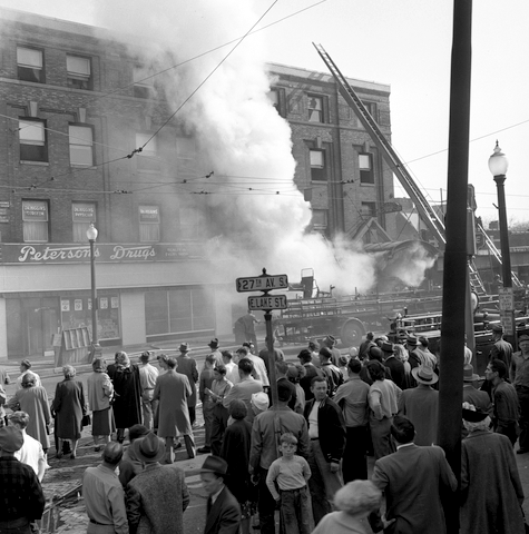 a 1948 fire caused substantial damage to the Oddfellows' building.