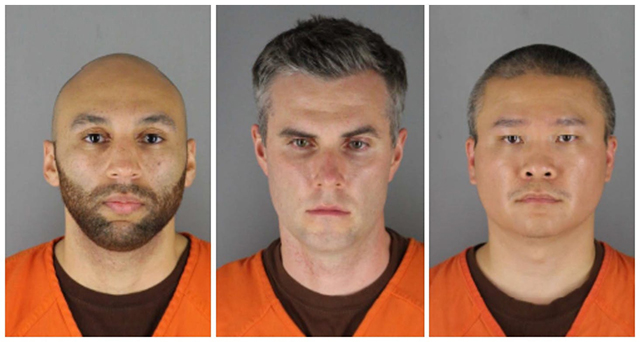 J. Alexander Kueng, Thomas Lane and Tou Thao face charges of aiding and abetting second-degree murder and aiding and abetting second-degree manslaughter.