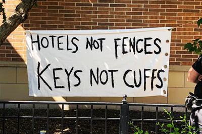 Sign on the Sheraton