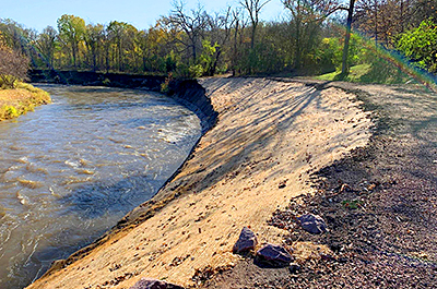 streambank stabilization project
