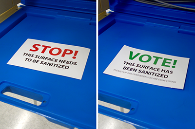 sanitized voting booths