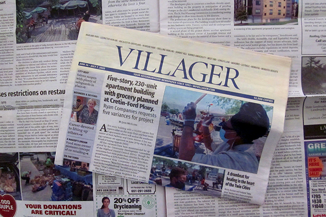 The Villager is free, with 60,000 copies distributed on doorsteps or at coffee shops and businesses all over St. Paul.