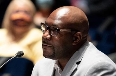 photo of philonise floyd testifying