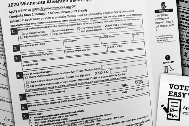 Absentee ballot application