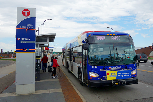 Metro Transit already operates two BRT lines: the A Line and the C Line, shown above.