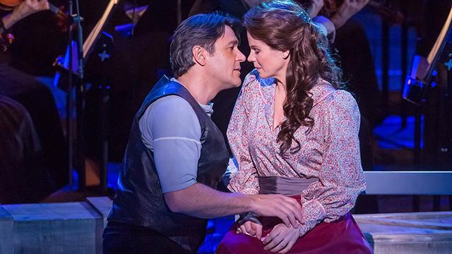 "Nathan Gunn and Kelli O'Hara in ""Carousel."""