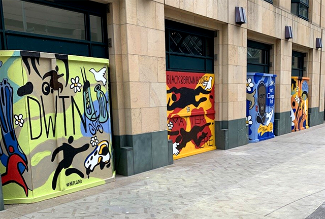 Come Together, a mural series, 2020 on Nicollet Mall.