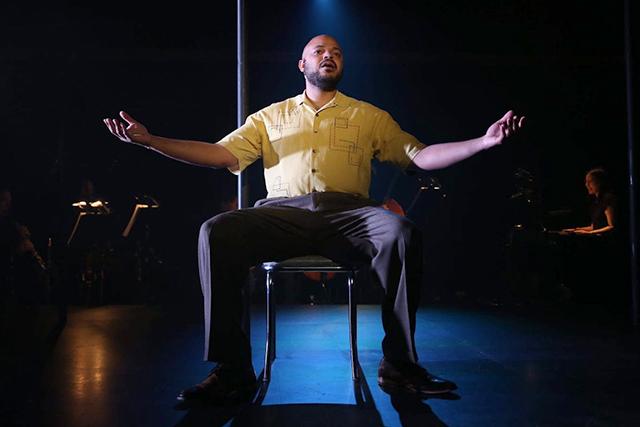 "Justin Cunningham as Benny Tate in ""Broadbend, Arkansas."""