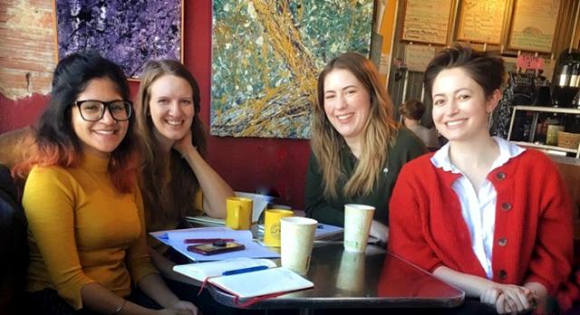 Authors are, left to right: Kshitiz Karki, Alyssa Scott, Sasha Hulsey and Olivia Reyes.