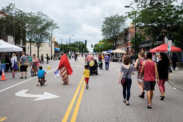 Open Streets Minneapolis in pre-COVID days.