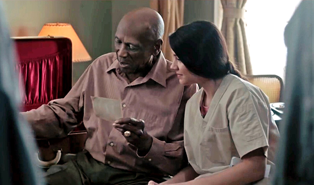 "Lou Gossett Jr. and Ana Golja in a scene from ""The Cuban."""