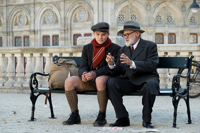 """Simon Morzé and Bruno Ganz in """"The Tobacconist."""""""