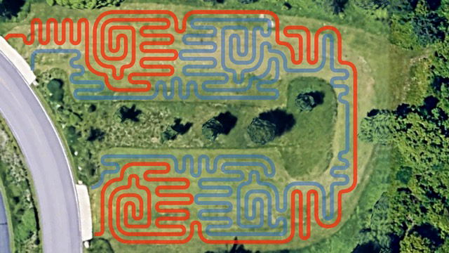 """Touching Not Touching"" is two separate labyrinths nested within each other."
